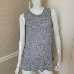 Cloth & Stone Heather Gray Slub Cotton T-Shirt